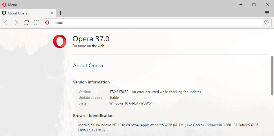 Opera 37: Find out what is new