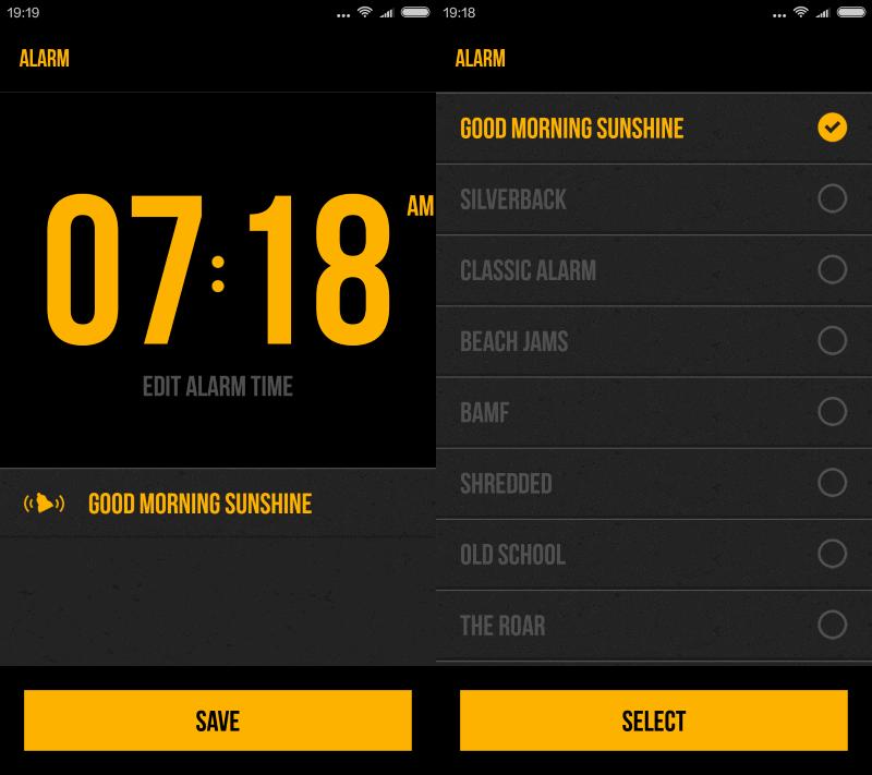 rock alarm clock