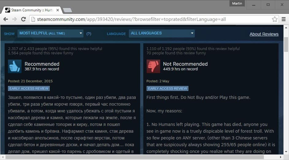 steam all reviews
