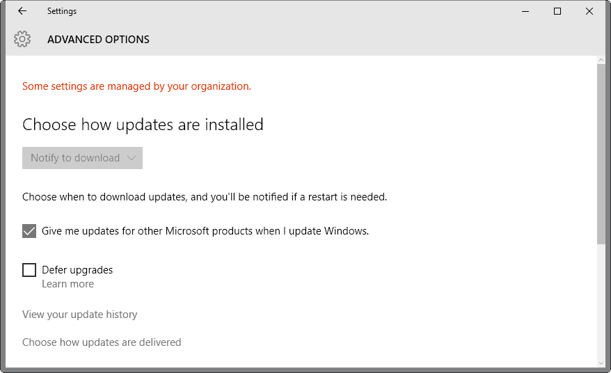windows 10 defer upgrades