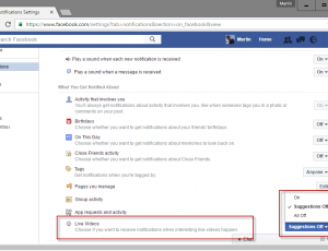 block facebook live notifications