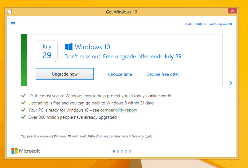 KB3184143 Update to remove Get Windows 10 offer out