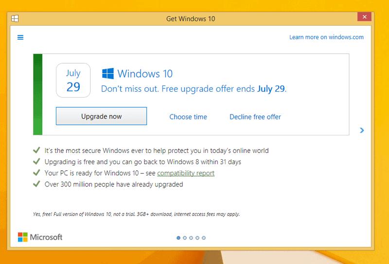 decline windows 10