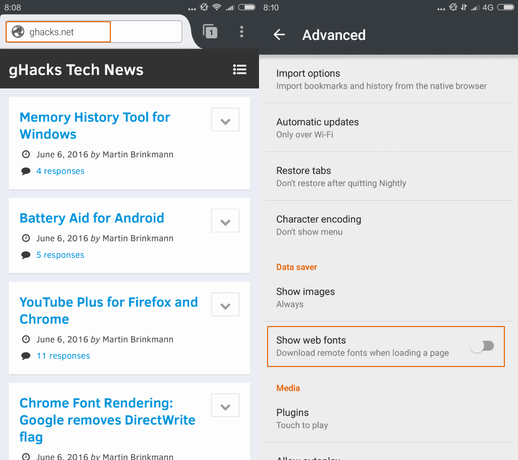 firefox 47 android