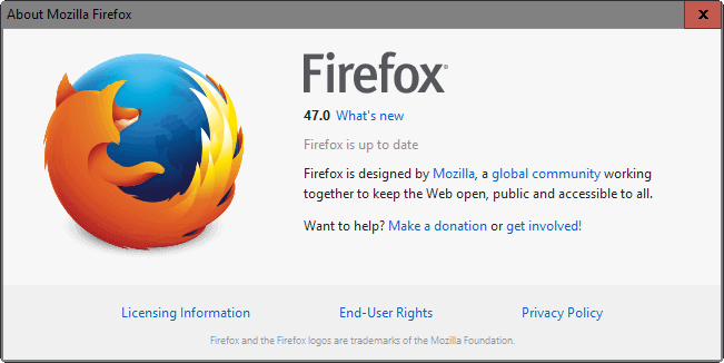 Firefox 47: Find out what is new