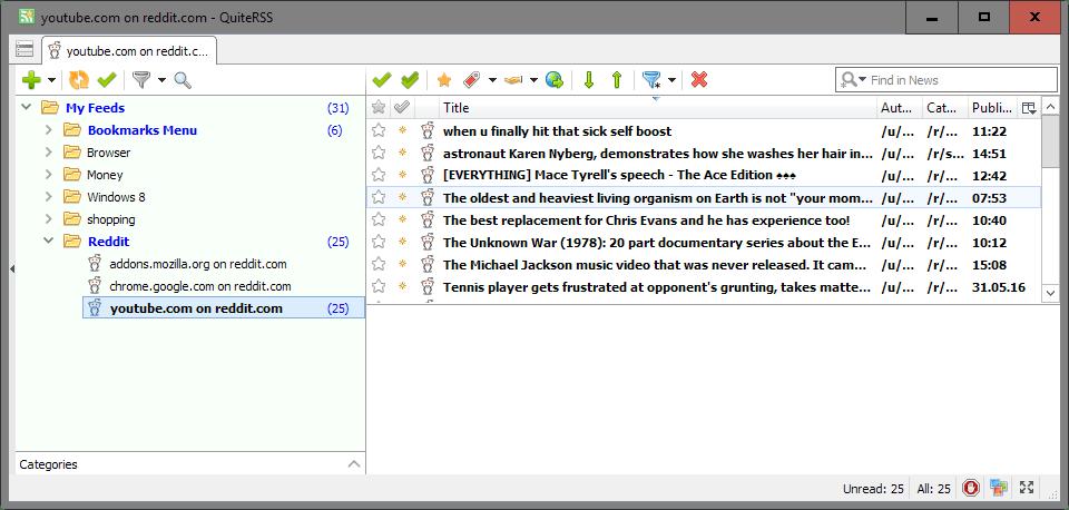 reddit domain feeds