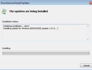 servicing stack update