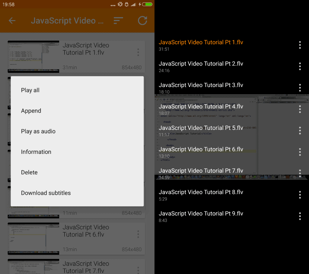 vlc 2.0 for android video playlists