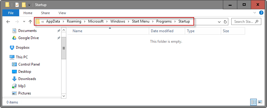 windows autostart locations folders
