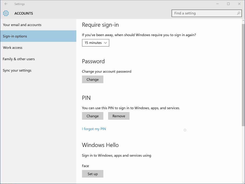 Enhanced Anti-Spoofing for Windows 10