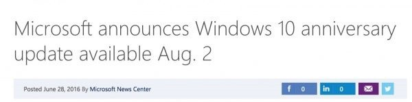 windows10 anniversary update august 2
