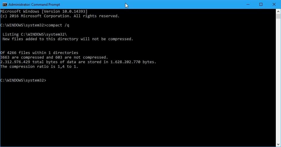Free up Windows 10 Disk Space with Compact OS - gHacks Tech News