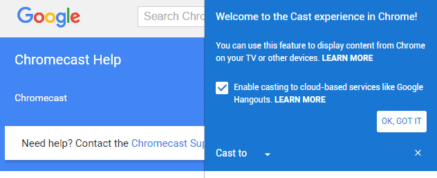 google chrome cast