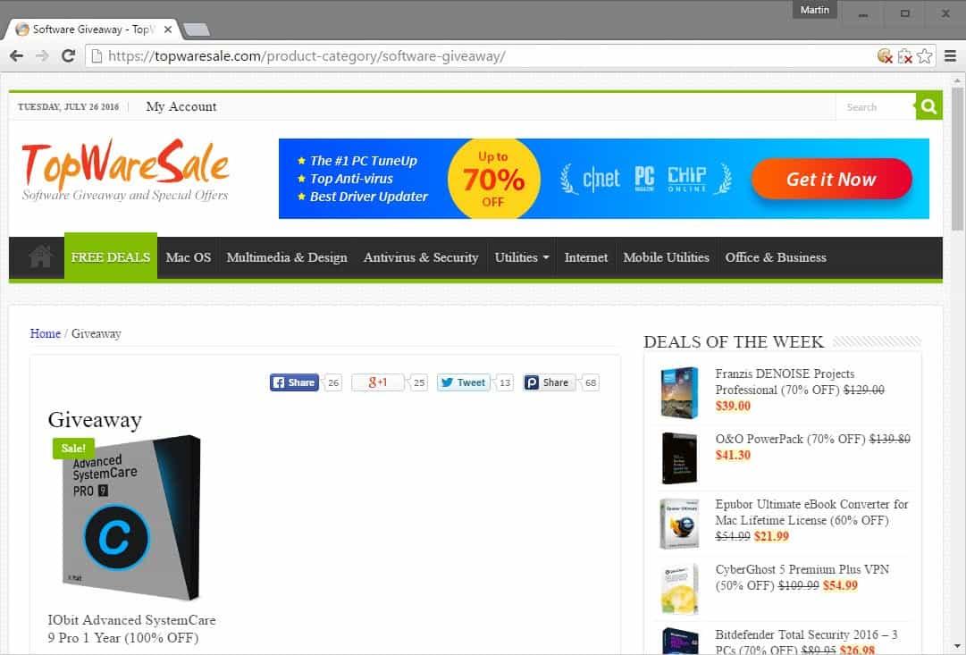 topware sale