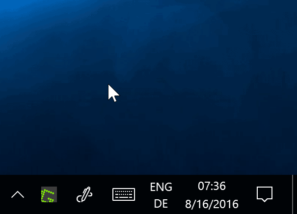 show notification area on both screens windows 10
