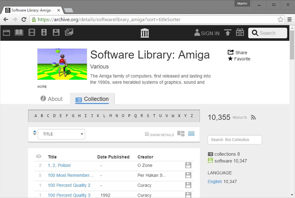 amiga software library