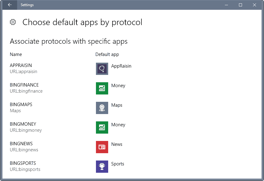 Windows 10 Annoyance: Choose default apps
