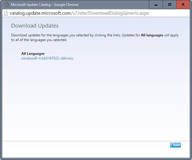 download update microsoft update catalog