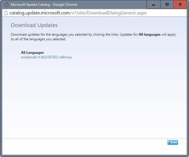 download update microsoft update catalog