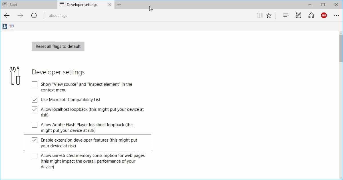 edge extension developer features