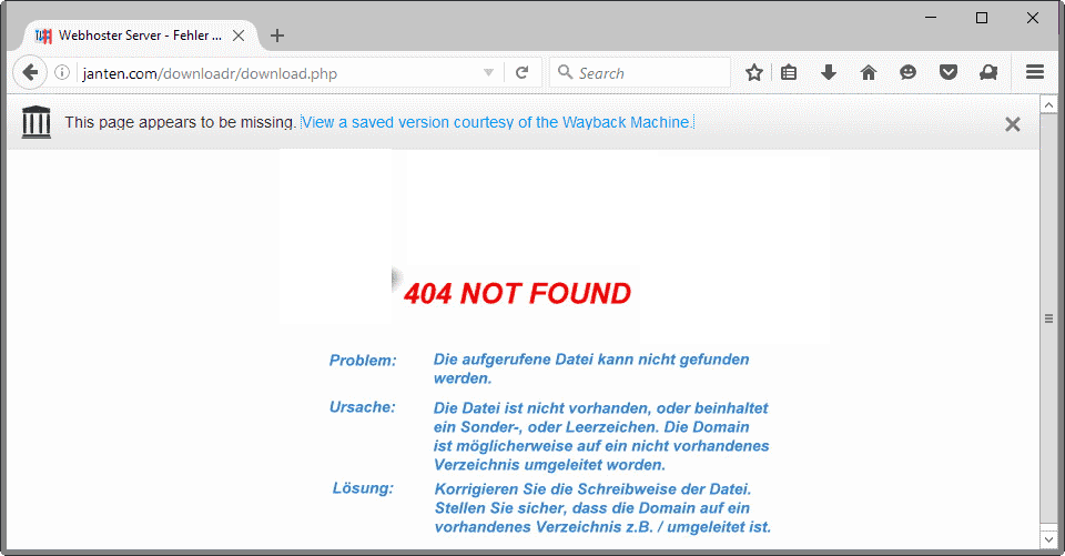 firefox test pilot no more 404s
