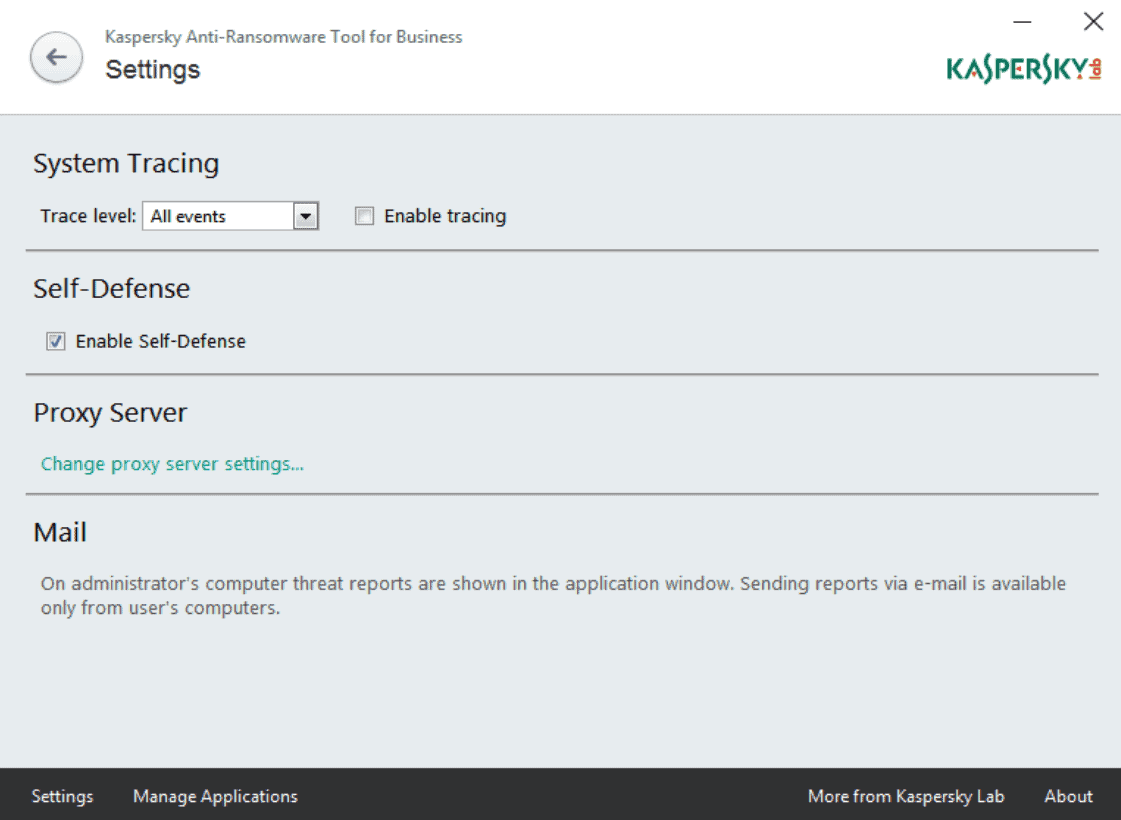 kaspersky anti-ransomware tool settings