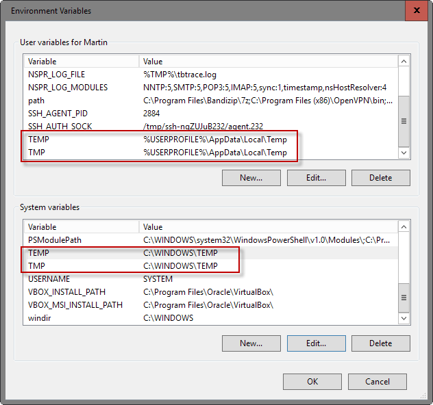 move temp folders