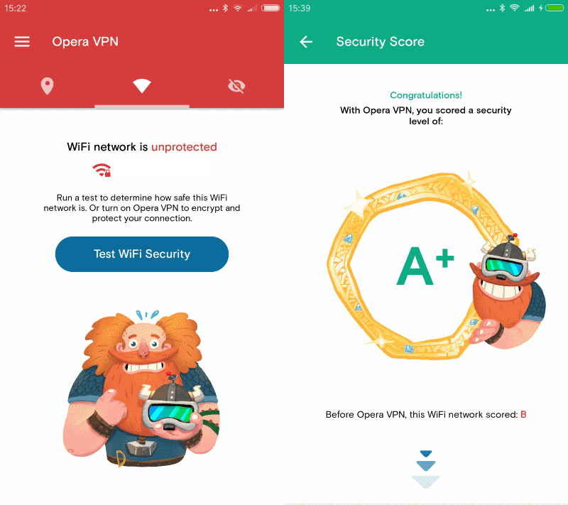 opera vpn wi-fi security