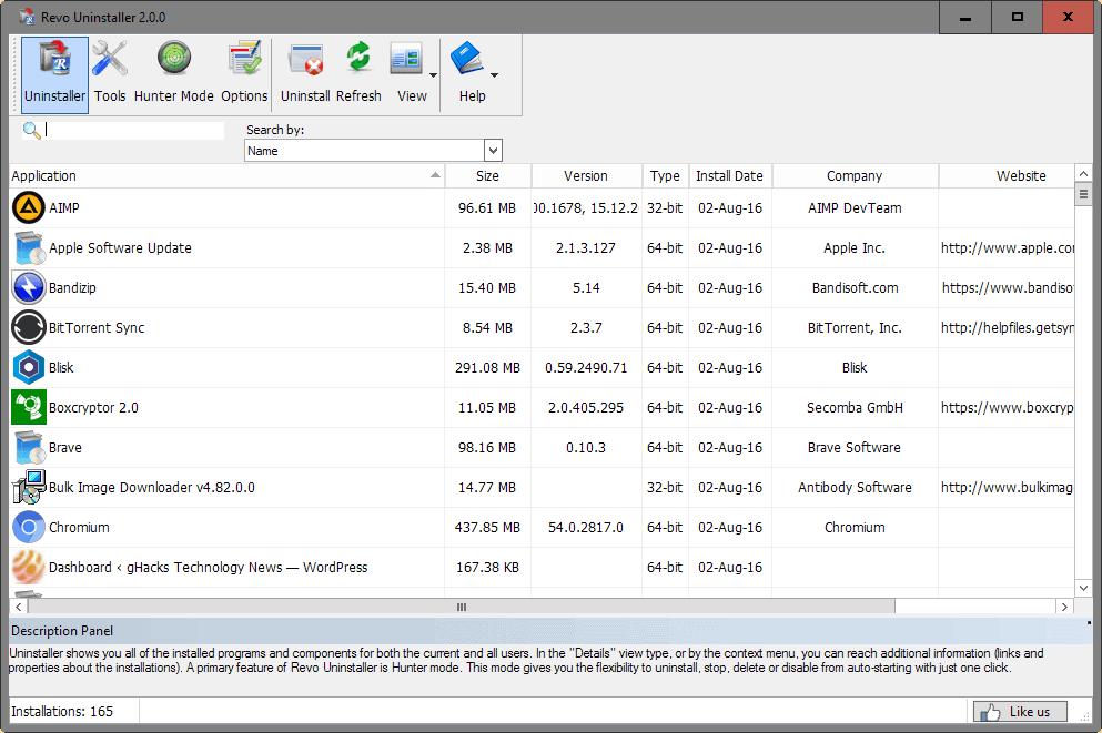 revo uninstaller 2.0