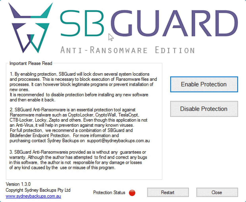 sbguard anti-ransomware