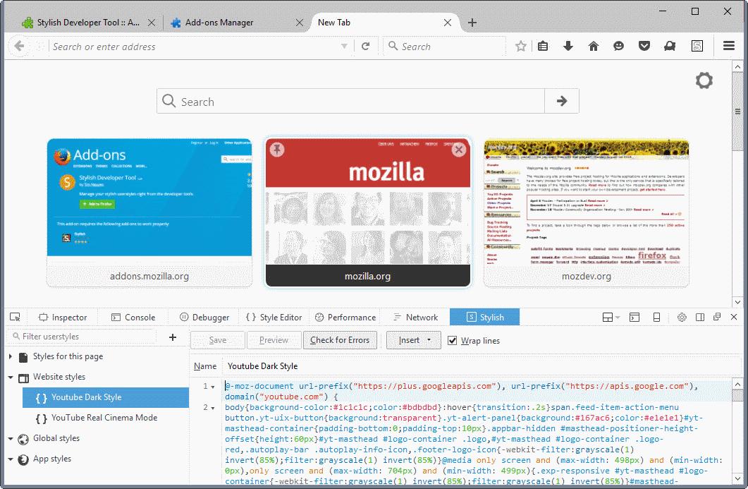 stylish developer tools