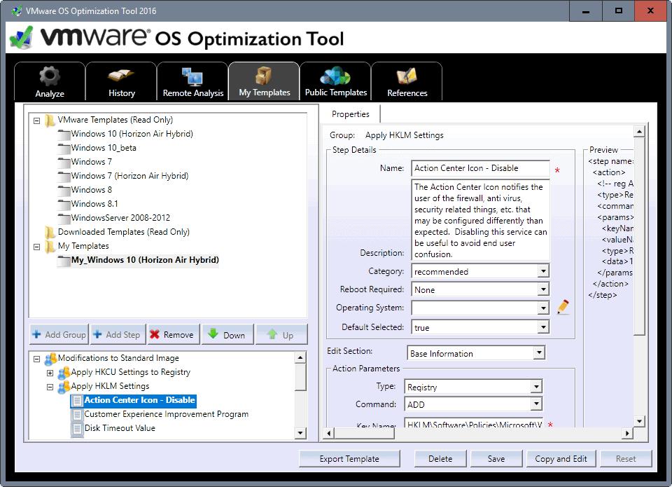 custom optimization templates
