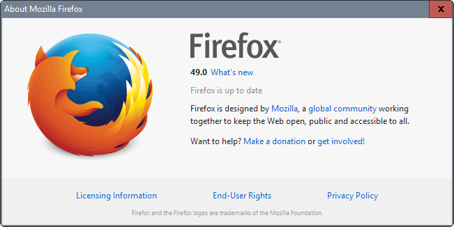 Firefox 49 Release: Find out what is new