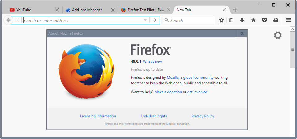 Firefox 53: no support for Windows XP or Vista