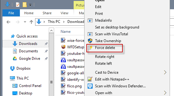 how to delete locked files windows 7