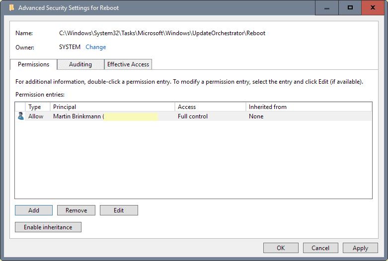 reboot permissions
