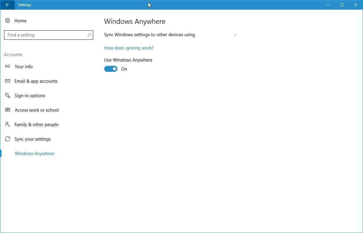 Windows Anywhere could become Sync 2.0