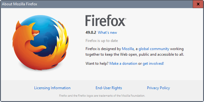 Firefox 49.0.2 is out