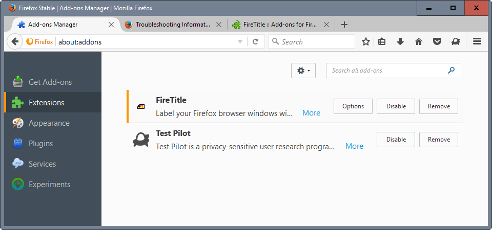 firefox profile titles