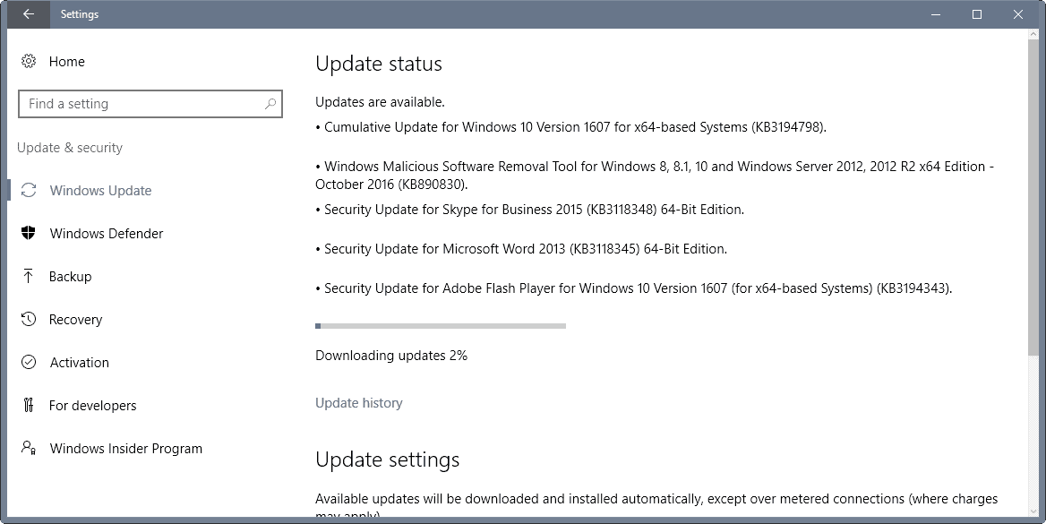 microsoft security updates october 2016