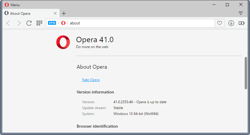 Opera 41 Stable is out