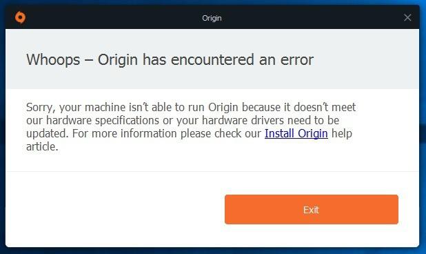 origin whoops