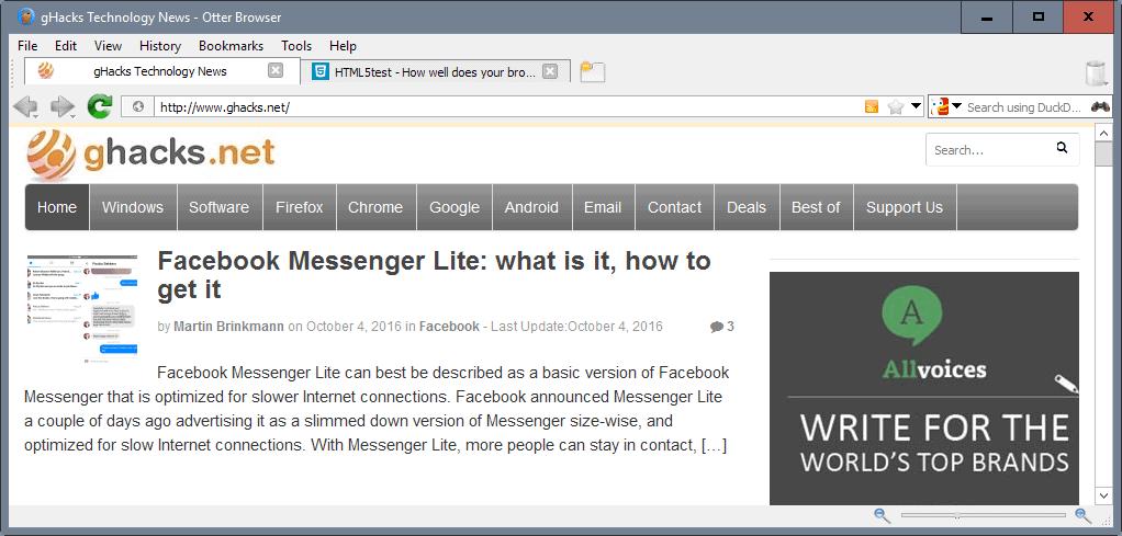 otter browser beta 11