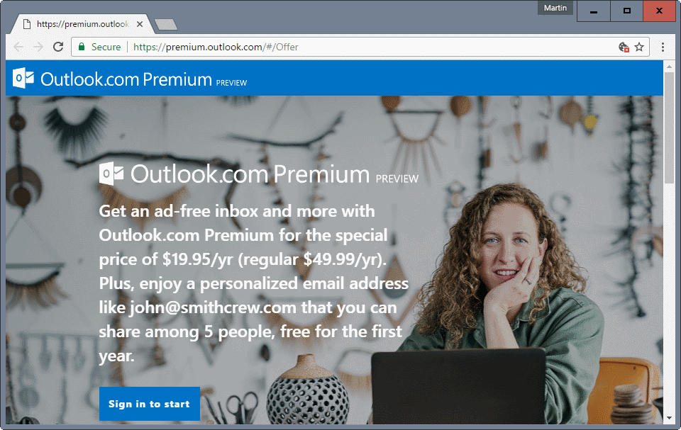 Outlook.com Premium is quite the expensive affair