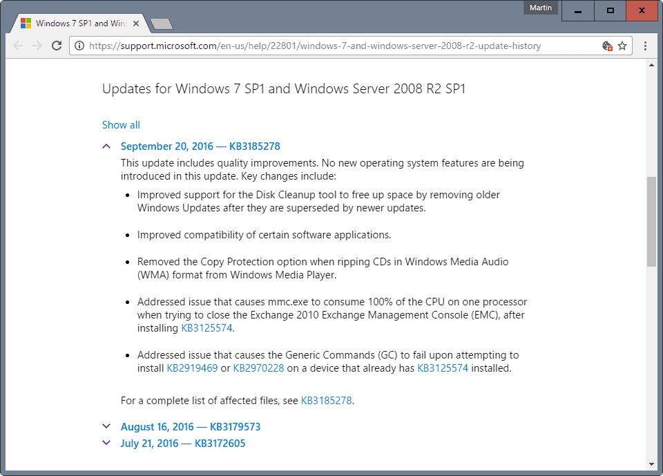 Say good-bye to individual patches on Windows 7 and 8