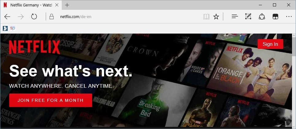 4K Netflix in Browser? Only with Microsoft Edge
