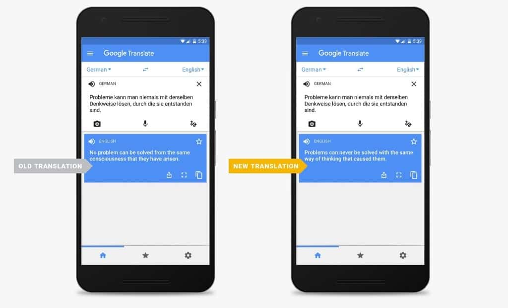 Google Translate switches to Neural Machine Translations