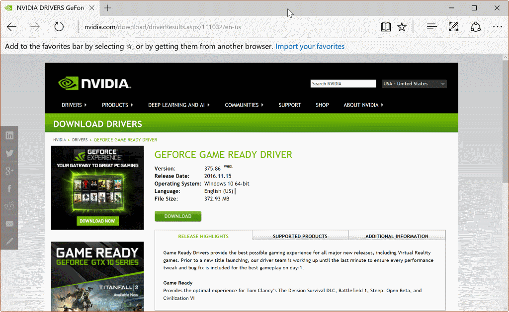Nvidia 375.86 driver issues