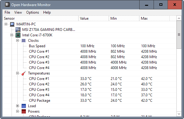 open hardware monitor 0.8