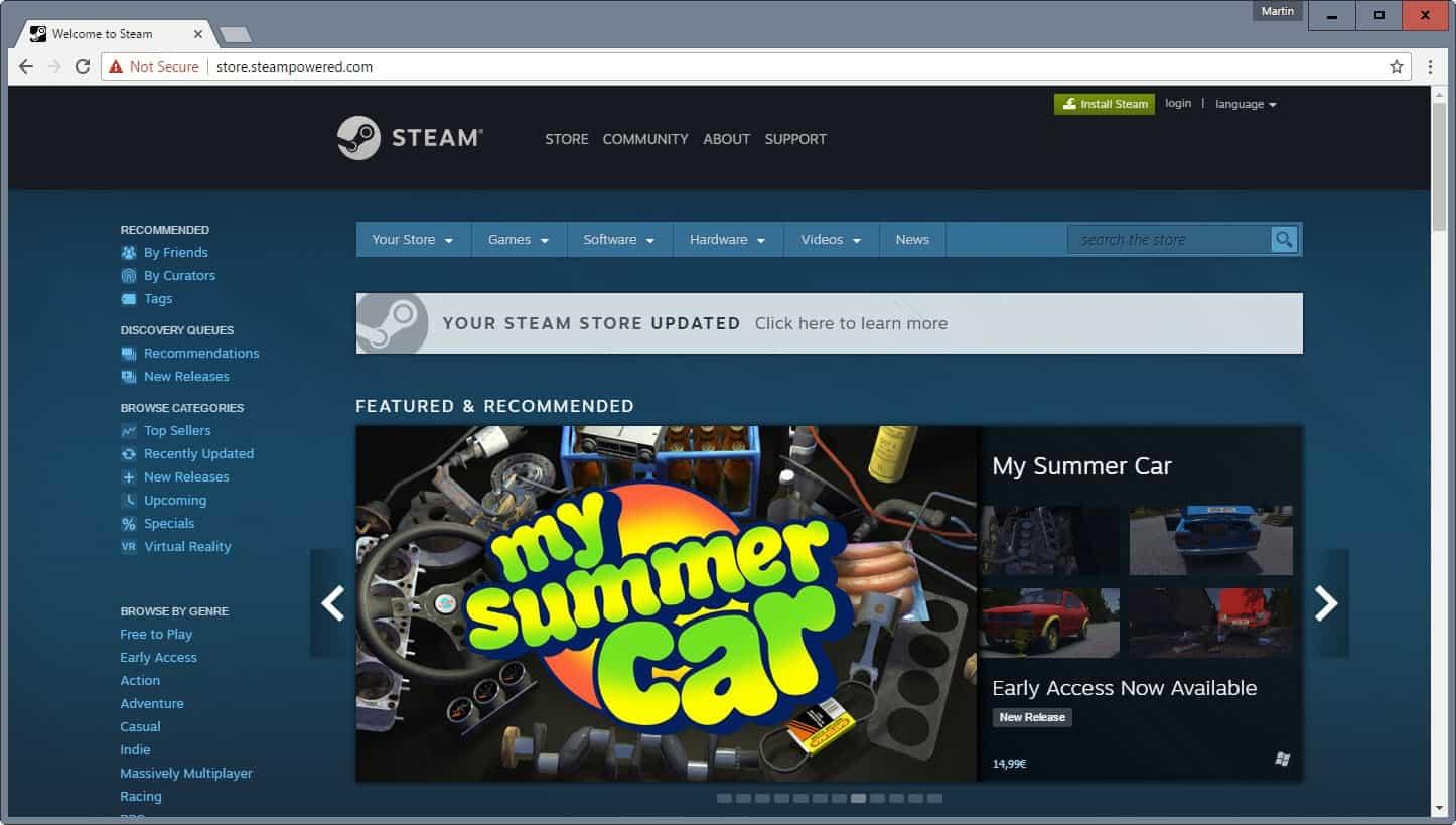 steam store update